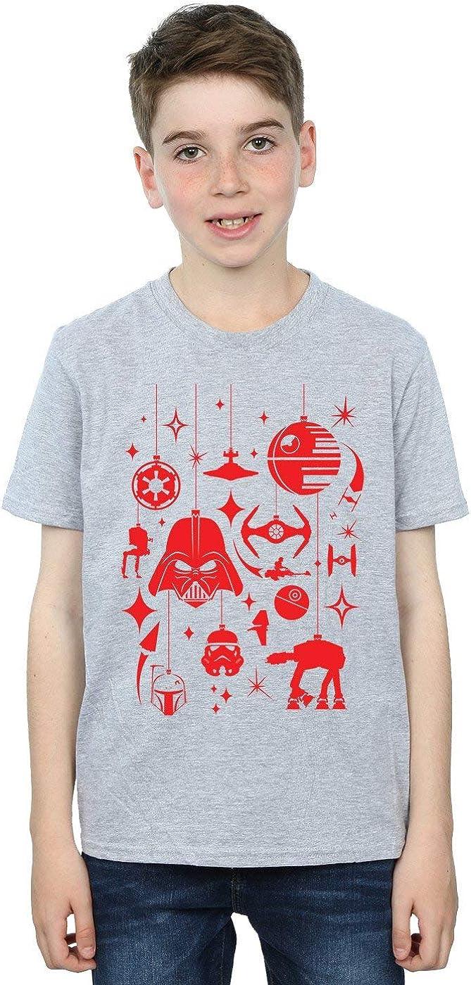 STAR WARS Boys Christmas Decorations T-Shirt 12-13 Years Sport Grey