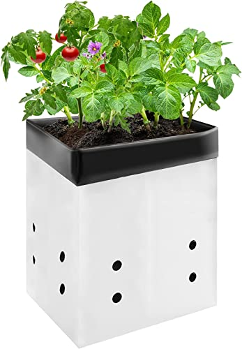 high quality VIVOSUN 50-Pack 3 Gallon outlet online sale Grow Bags for Plants, Black-and-White Material for Potting Up Seedlings and outlet sale Rooting online