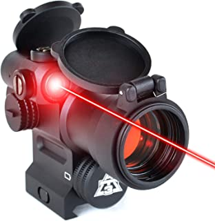 AT3 LEOS Red Dot Sight with Integrated Laser & Riser – 2 MOA Red Dot Scope with..