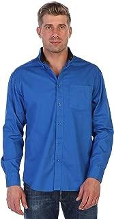 Gioberti Mens Long Sleeve Casual Twill Contrast Shirt
