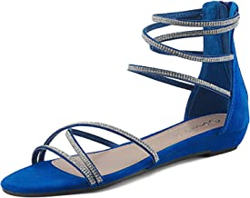 Amazon.com: Royal Blue Wedge Sandals