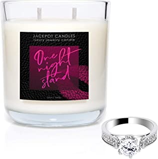 Jackpot Candles One Night Stand Double Wick Candle with Ring Inside (Surprise Jewelry Valued at $15 to $5,000) Ring Size 7