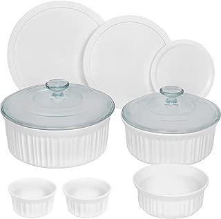 CorningWare 10-Piece Set French White Ceramic Bakeware