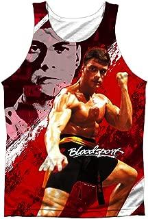 Bloodsport Action Sports Film Van Damme Image Front Print Tank Top Shirt