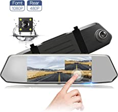 7 Inch Touch Screen Rearview Mirror Car Camera 7