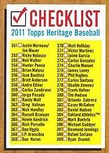 2011 Topps Heritage Checklists #5 Checklist MLB Baseball Card NM-MT