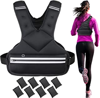 13-25/4-12 lbs Adjustable Weight Vest, Sport Running Weighted Vest, Strength Training Weight Vest for Men and Women, Weighted Vest Workout Equipment