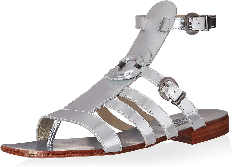 Australia Luxe Collective Women's Palm Gladiator Sandal, Metallic Silver, 40 M EU 9 M US