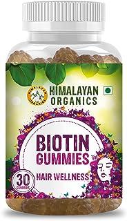 Himalayan Organics Biotin Gummies for Hair Growth   Skin Glow & Longer Nails   30 Veg