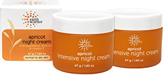 EARTH SCIENCE - Apricot Night Cream with Hydrating Apricot and Vitamin E for Dry Skin (2pk, 1.65 oz)