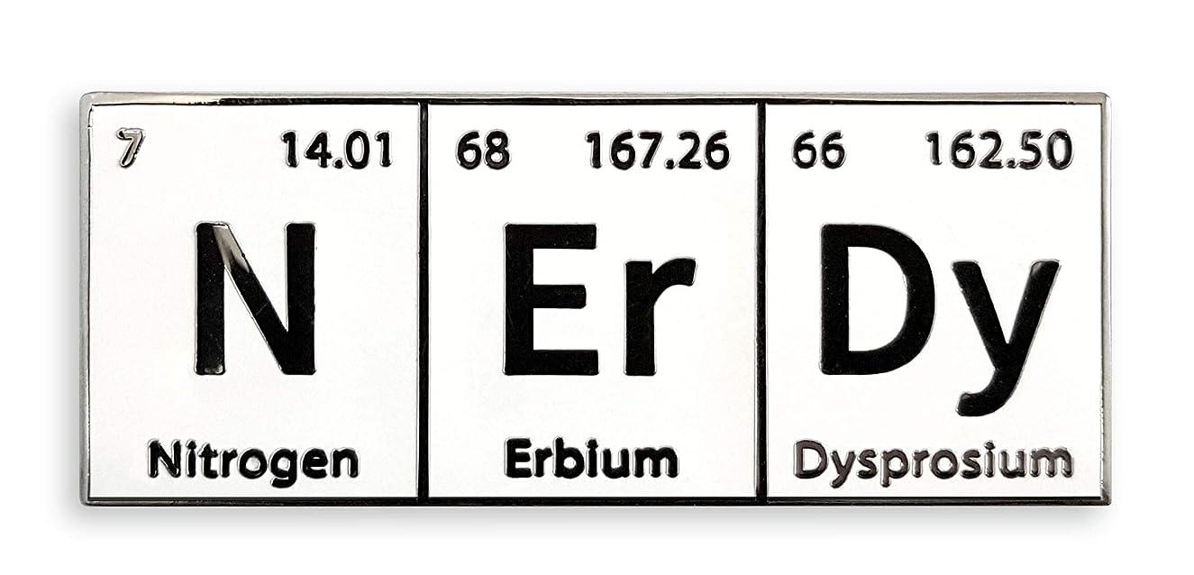 Pinsanity Funny NErDy Periodic Table Enamel Lapel Pin