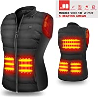 Hoocuco 5V Lightweight Heated Vest with USB Charging and 3 Temp Setting
