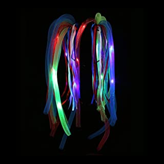 Fun Central LED Party Dreads - Light Up Noodle Hair Headband - Multicolor