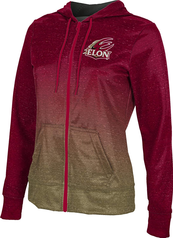 ProSphere Elon University Girls' Zipper Hoodie, School Spirit Sweatshirt (Ombre)