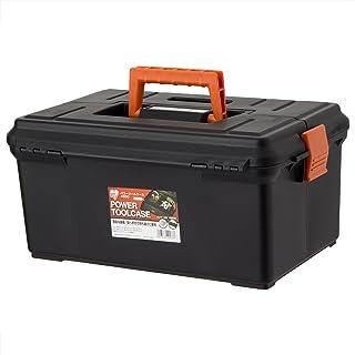 アイリスオーヤマ 職人の車載ラック専用 工具箱 パワーツールケース ブラック/オレンジ 400D