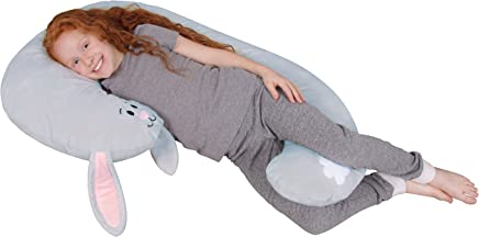 Leachco Snoogle Jr. - Luxuriously Soft Plush Bunny with Zippered Removable Cover – The Snuggle,  Cuddle,  Animal Body Pillow for Kids