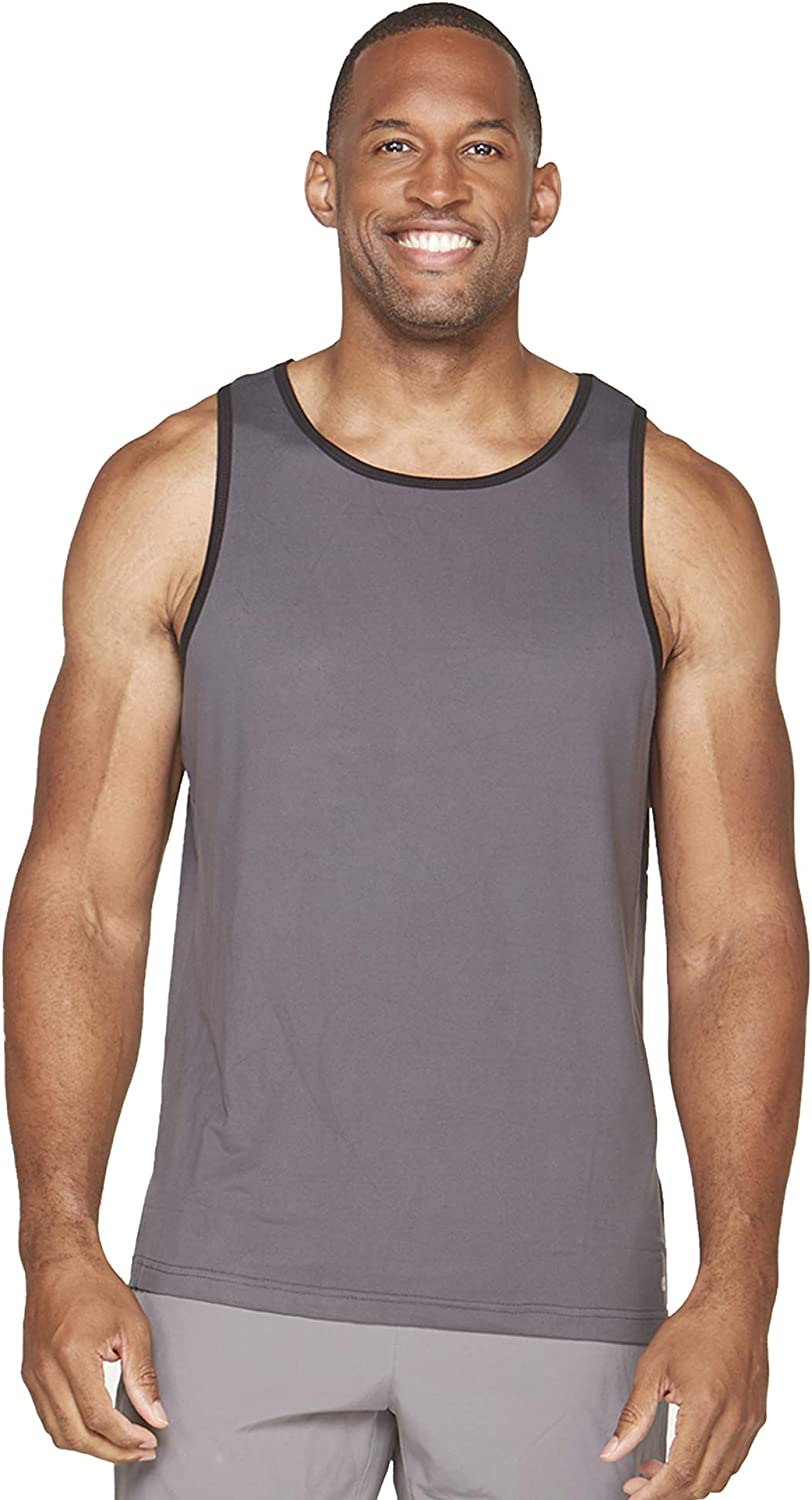 Colosseum Active Mens Performance Four Way Stretch Weight Lifting Tank Top