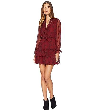 BB Dakota Wine Down Printed Dress (Sundried Tomato) Women