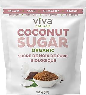 Viva Naturals Organic Coconut Sugar: Non-GMO, Low-Glycemic Sweetener, 6 lbs Bag