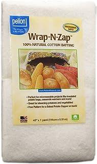 Pellon Pellon Wrap-N-Zap Cotton Quilt Batting, 45 by 36-Inch, Natural, WZ-45, Cotton, Natural, 1 Pack