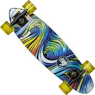 Body Glove Surf Trip Complete Cruiser Skateboard,  Blue/Green/Yellow/Orange/White,  24