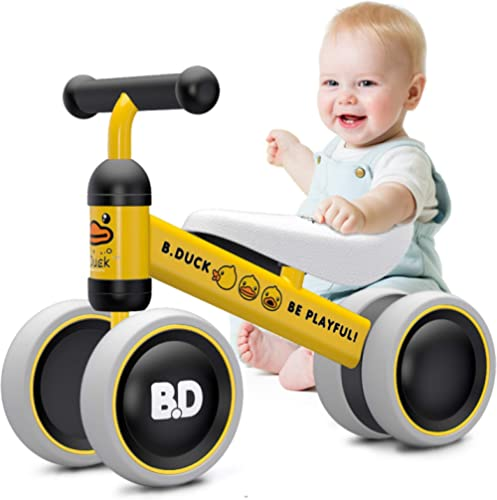 Baby Balance Bikes 10-24 Month Children Walker | Toys for 1 Year Old Boys Girls | No Pedal Infant 4 Wheels Toddler Bi...