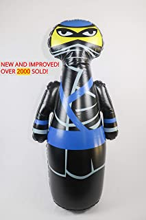 J&A's Inflatable Dudes Ninja 47 Inches - Bop Bag | Kids Punching Bag | Inflatable Toy | Boxing - Premium Vinyl- Comes with Sand-Filled Base for Bounce-Back Action! Weighted Bottom