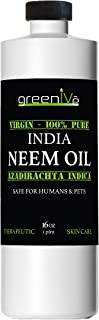 Greenive - Neem Oil - 100% Organically Grown Neem Oil - Cold Pressed Virgin Neem Oil - Exclusively on Amazon (16 Ounce)