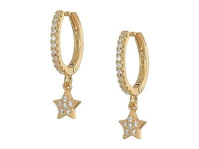 SHASHI Star Pave Huggie Earrings (Gold) Earring