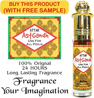 Attar Original Kasturi Musk (3 ml.) Pure And Natural Attar Deer Musk +Attar Astgandh With 8 Variant Combination - Kasturi,Amber,Kesar,Chandan,Gulab,Oudh,Heena Mix combination Roll-on Pure Perfume