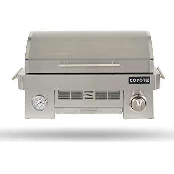 Coyote Portable Propane Gas Grill, 25 Inch Portable Grill with Ceramic Heat Control Grid - C1PORTLP