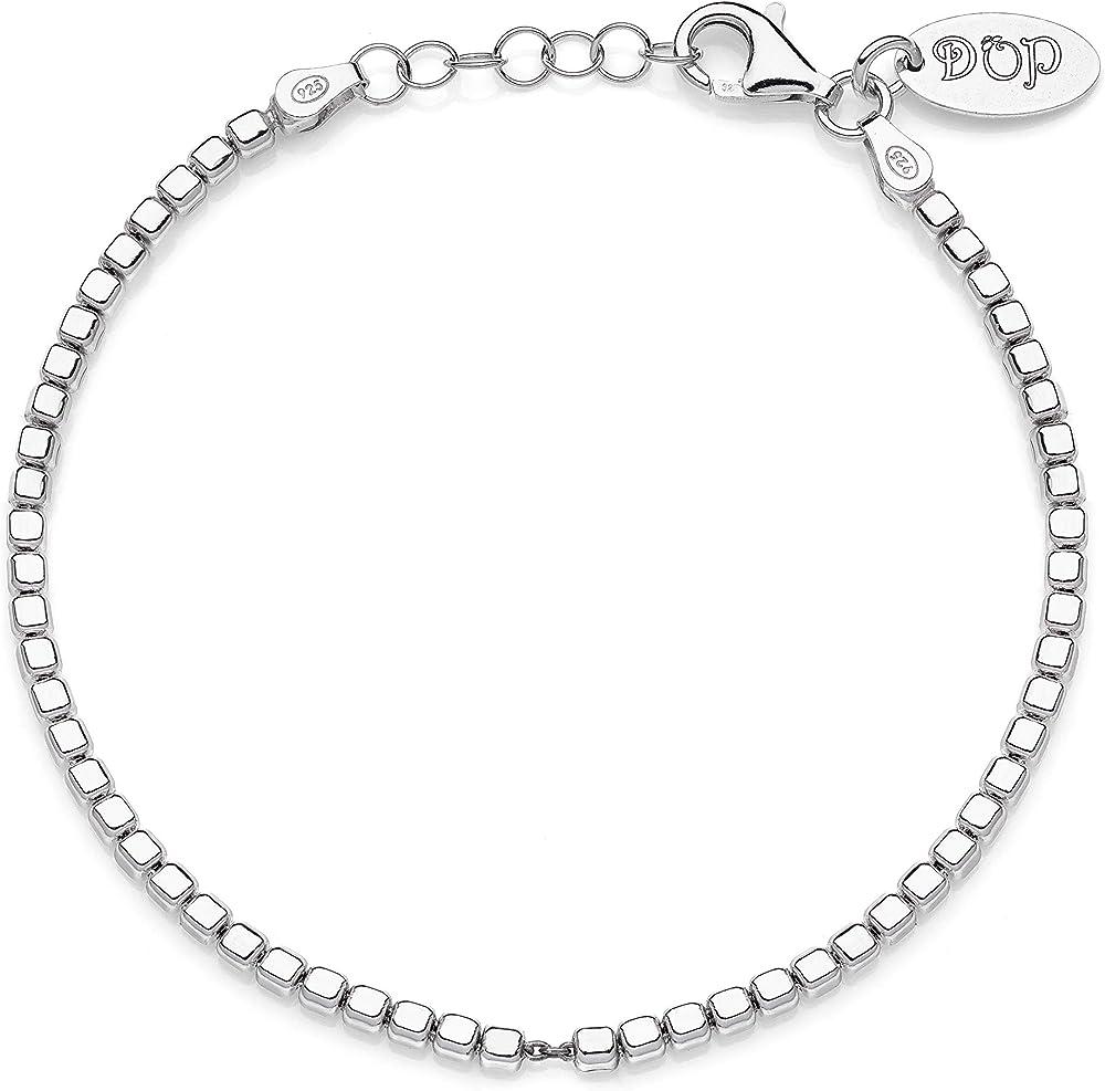 Dop gioielli,bracciale cubo da uomo, in argento 925 BRDOP007