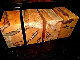 Four (4) KILN Dried Ambrosia Maple Bowl Blanks Lumber Wood Lathe 6 X 6 X 3''
