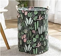 JUNQIAOMY Kosz do przechowywania składany pojemnik do przechowywania, wodoszczelny tropikalny nadruk liści, kosz na pranie...
