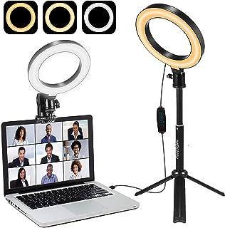 Verlichtingsset voor videoconferenties voor laptop of computer   Zelfuitzending   Werken op afstand   Zoom Call Lighting  ...