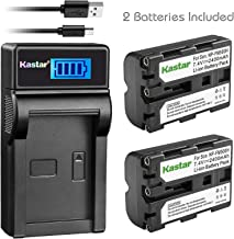 Kastar Battery X2 & LCD Slim USB Charger for Sony NP-FM500H Alpha SLT A57 A58 A65 A77 A99 A77V A77II DSLR-A100 A200 A350 A450 A500 A550 A700 A850 A900 Alpha a99 II CLM-V55 DSLR a100 a200 a560 a580 a58