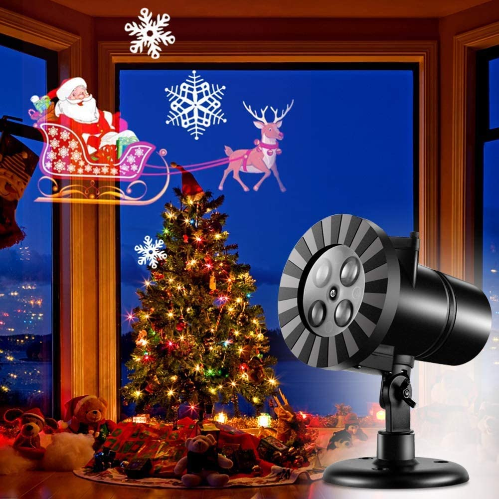 Holiday Projector Lights Halloween Snowman Santa Safety and trust Rare Christmas Claus