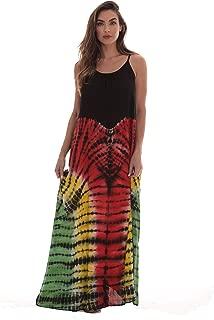 Tie Dye Spaghetti Strap Maxi Dress