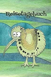 Reisetagebuch: Notizbuch zum Eintragen der Reiseerlebnisse in Neuseeland I 124 Seiten Punktraster mit Inhaltsverzeichnis I Motiv: Kiwi (German Edition)