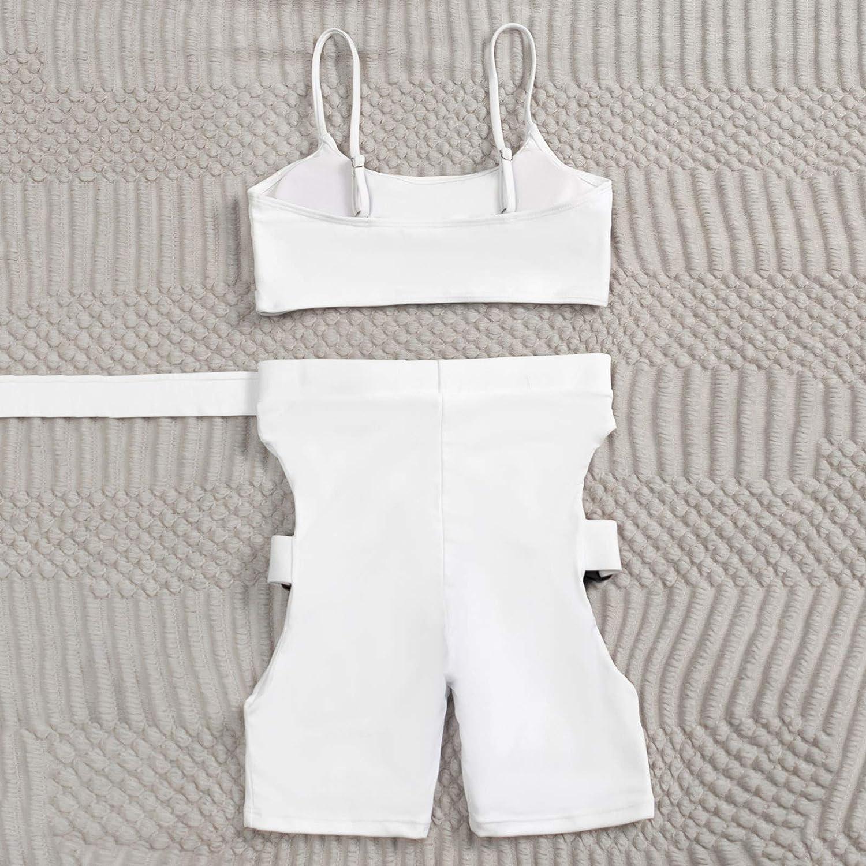 Xiloccer Swimsuits for Women Bikini Set Two Piece Swimsuit Cute Bathing Suits Beach Cover Ups Swimwear Mesh Swimsuits