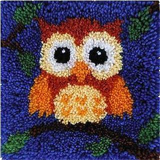 Kits De Tapis Latch Hook Crochet DIY Crochet Latch Crochet Crochet Tapis pour Adultes Et Enfants, Kit De Couture Coussin (...