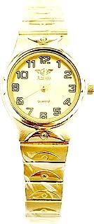ساعة اديماكس للنساء - انالوج كوارتز - سوار ستانلس ستيل مينا ذهبية -sl802