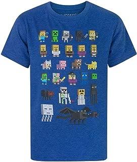 Vanilla Underground Minecraft Sprites Boys Blue T-Shirt