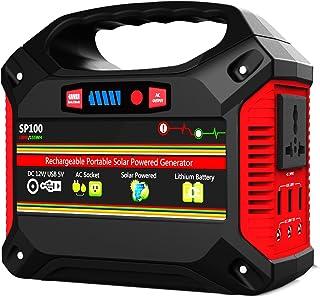 Batería recargable generador de energía portátil,155WH/42000mAh Solar Power Station paquete de baterías,Tres USB y 3 DC 12...