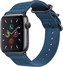 Fintie Band Compatible with Apple Watch 44mm 42mm Series 6/5/4/3/2/1 iWatch SE, Lightweight Breathable Woven Nylon Sport W...