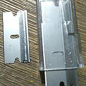 schwarz KIPPEN 1142 Glasschaber mit Trapezklinge