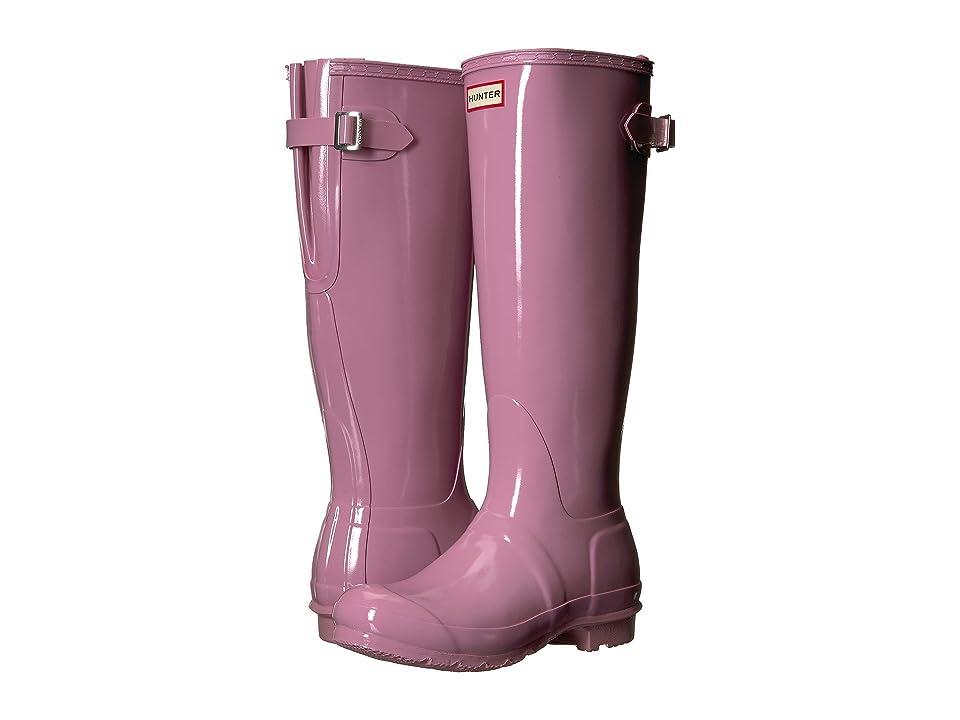Hunter Original Back Adjustable Gloss Rain Boots (Blossom) Women
