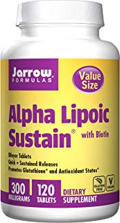 Jarrow Formulas Alpha Lipoic Sustain Supports Cardiovascular Health, 120 count