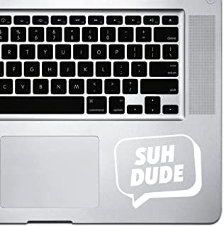 StickAny Palm Series Suh Dude Speech Bubble Sticker for Macbook Pro, Chromebook, and Laptops (Default) White 1716-65505