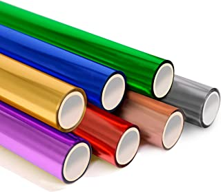 KASYU Transfer Foil Paper Bundle for Cricut Foil Transfer Kit/Spellbinders/Foil Quill/Heat Foil Pen,12inx9.84ft Heat Trans...